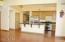Nice open kitchen.