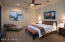 Master suite has private access to the back patio.