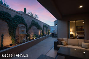 Complete privacy in the back patio.