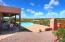 Deep covered patio, pool, views