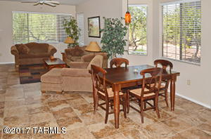 Open floorplan with new tile flooring throughout