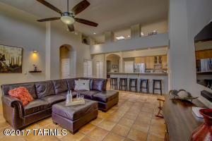Family Room and Breakfast Bar ... Notice the High Ceilings