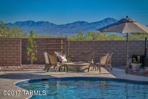 Views of Tucson Mountain Range looking toward your firepit...