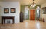 """18"""" travertine tile flooring in all living areas."""