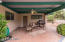 Covered Patio area in backyard.