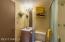 Guest quarters casita bathroom with shower.