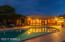 Back view of arizona room and pool.