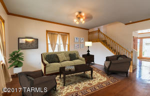 Living room with virtual staging.