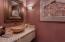Powder bathroom on main level.