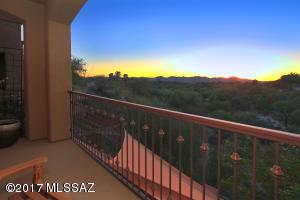 Beautiful sunsets off balcony