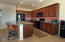 Open spacious kitchen-pullouts. New dishwasher-refrigerator