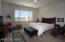 Master Bedroom - spacious - views to common area and sunset.