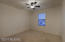 Lots of space to decorate, with a large closet and ceiling fan