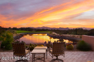 Back Patio Overlooking the Lake and Golf Course