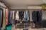Walk-in Master Bedroom Closet