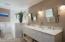Dual sink Vanity with marble top