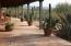 Front of home, covered Veranda & Desert plantings