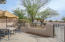 Courtyard right off the Den/office. Beautiful view of the Catalina Mts.