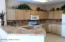 Tons of cupboard space as well as prep space for the gourmet chef