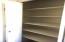Huge linen closet in hall bath