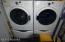 washer and dryer w/ pedestals