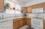 Kitchen sink with window.