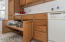 Cabinets with pull-outs.