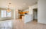 Kitchen opens to great room/dining