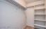 Huge walk-in master closet