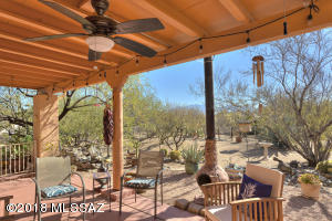 Large Covered Patio with Ceiling Fan