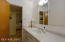 Hall Bathroom with Shower and Charming Built in Storage