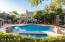 Heated swimming pool all year with spa. Newer loungers added.
