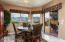 Enjoy the mountain views over dinner in this dining nook