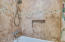Custom stone tile surround for tub and shower master