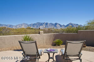 This beautiful view of the Catalinas from the rear yard is relaxing and never grows old.