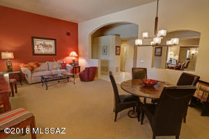 Gracious Living Room & Dining Area