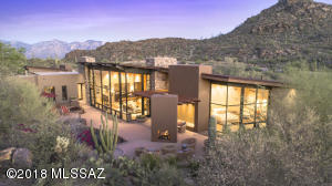 Private Retreat by award winning architect Michael Franks on 13 acres in prestigious Saguaro Ranch w/one-of-a-kind entry through mountain tunnel w/24-hour manned gate.