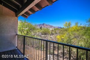 Views to the Catalinas off of the private master balcony