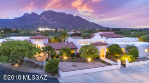 Class, grace & elegance; remodeled & updated Oro Valley 7,080sf Mediterranean home+874 guest quarters w/4 car garage on 4.7AC w/spectacular Catalina Mountain views w/incredible sunset & sunrise displays.