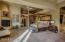 Expansive master bedroom w/fireplace