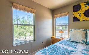 Beautiful mountain views from your master bedroom retreat.