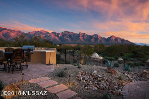 Barbecue outside while Watching the Sunset Glow on the Catalina Mountains