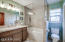 Remodeled Hall Bath by McCaleb Construction!