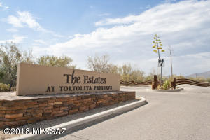 The Estates at Tortolita Preserve is a gated community just west of Dove Mountain with 25 lots, all of which are at least 2.5 acres.