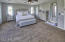 Ceiling fans in roomy master and all secondary bedrooms