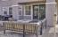 Paver brick rear patio