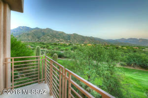 Master Bedroom Balcony Overlooking Golf Course and Beautiful Mountain Views