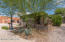 Mature desert landscaping - low care! View of front patio railings