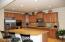 Gourmet kitchen w/beautiful staggered cabinets