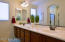 Dual executive hgt sinks with long vanity in master bath